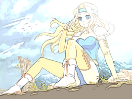 FFVI: Celes Relaxing by Jenny-chama