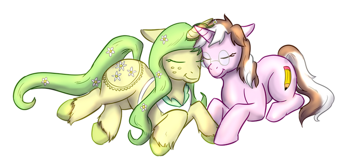 Pencil And Daisy by foxhat94