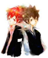 Enma X Tsuna by suddenlle