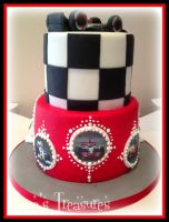 Formula One 30th Cake! by gertygetsgangster