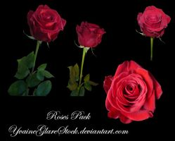 4 Roses stock pack by YvaineGlareStock
