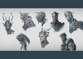 Heads and Helmets - Scifi by Elder-Of-The-Earth