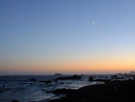 The Coast at Night by Fiiress