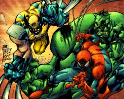 BA- Spider-man, Hulk, Wolverine by Creation-Matrix