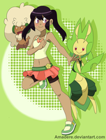 [PKMN OC] Leaves and Cotton by Amadere