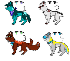 Adoptable Sheet Canines OPEN by SwiftyNifty
