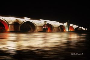 A view of a famous Stone bridge in Skopje by dardaniM