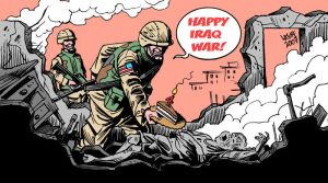 4th anniversary of Iraq War B by Latuff2