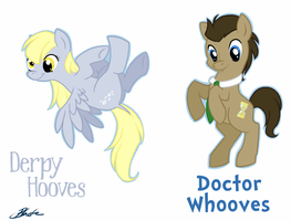 MLP - Derpy Hooves and Doctor Whooves by caycowa