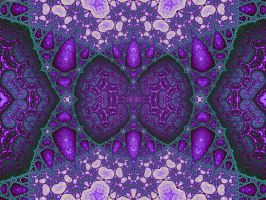 Purple and Green Mosaic by element90