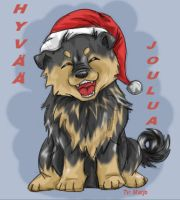 Christmas pup by Marjo-san