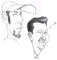 Even Newer Caricatures by borogove13