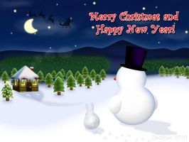 Christmas and New Year Card by comino69