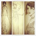Art Deco sketches by sefirosu-chan