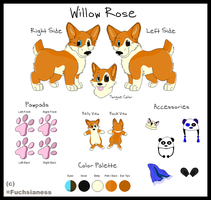 Willow Rose Fursona MS Paint Reference by rainbowpanda101