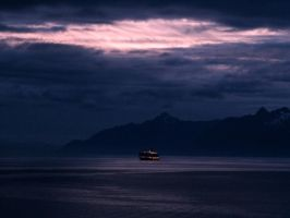 DAWN ON ALASKAS INSIDE PASSAGE by CorazondeDios