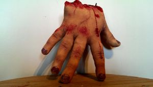 latex severed human front hand  details by Owlbites