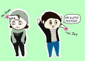 The REAL Avi and Mitch Chibis by CatsofSin