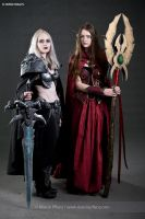Lady Arthas with Blood Elv World of Warcraft by AiDerathar