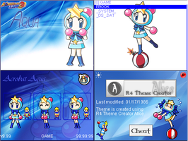 Acrobat Aqua - Bomberman theme for R4i Gold.CC NDS by SailorBomber