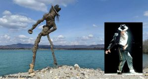 Driftwood art(Michael Jackson)in Hungary by kanya by tom-tom1969
