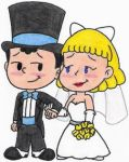 Ness and Paula Get Married by nintendomaximus