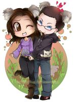 Chibi commission : Koalas by bibi-chan