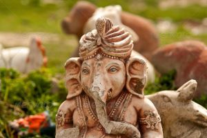 Antique Ganesha statue by version-four