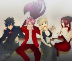 fairy _ tail _ party by NarutoUzmike