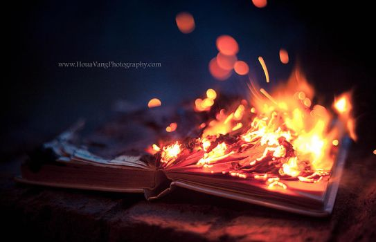 Burning Book by HouaVang