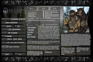 Skyrim RP group OC sheet by The-Linkinator