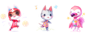 ACNL - kidcat lolly flora by justduet