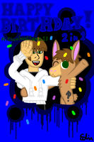 Happy Birthday 2 in 1! (Ft. CluelessLlama13) by EdvinDraw