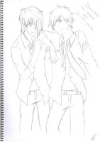 Reo and Christian - Sketch by Kitty-Kat-23