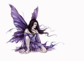 Purple Fairy by JannaFairyArt