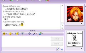MSN chat with Edward Elric by authoressarktos