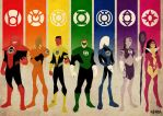 Lantern Corps vintage by BloodySamoan