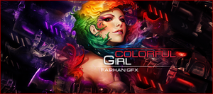 Colourful Girl by FarhanGFX