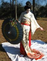 Geisha Parasol Dance 11 by AngelaSasser-stock