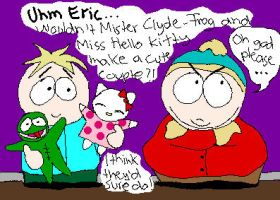 MrsHelloKitty and MrClyde-Frog by Eric--Cartman