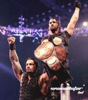 Roman Reigns And  Seth Rollins by WWEAllStarHD