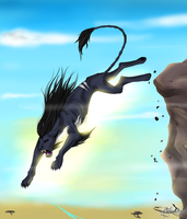 I will jump off the cliff by mysteriousharu