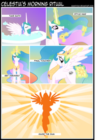 Celestia's Morning Ritual by mandydax