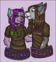 Kimberly and James Badges by silverwing