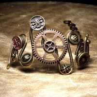 Steampunk Bracelet Gear 1 by CatherinetteRings