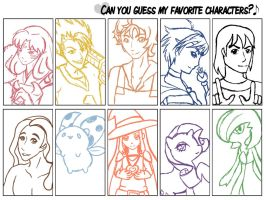Can You Guess My Favorite Characters? by SubarashiiOngaku