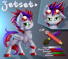 (COM) Character sheet = Jetset by KnifeH