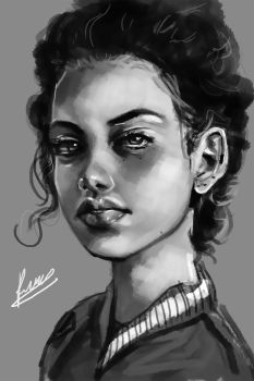 Study of a girl by Rawrkie