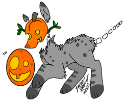 Egg adopt #10 Hatched: Jack-o-Wolf by LaurenBlu