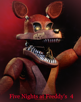 FNAF 4 - Unwithered Nightmare Foxy by GamesProduction